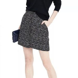 Banana Republic Button Front Tweed Fall Mini Skirt